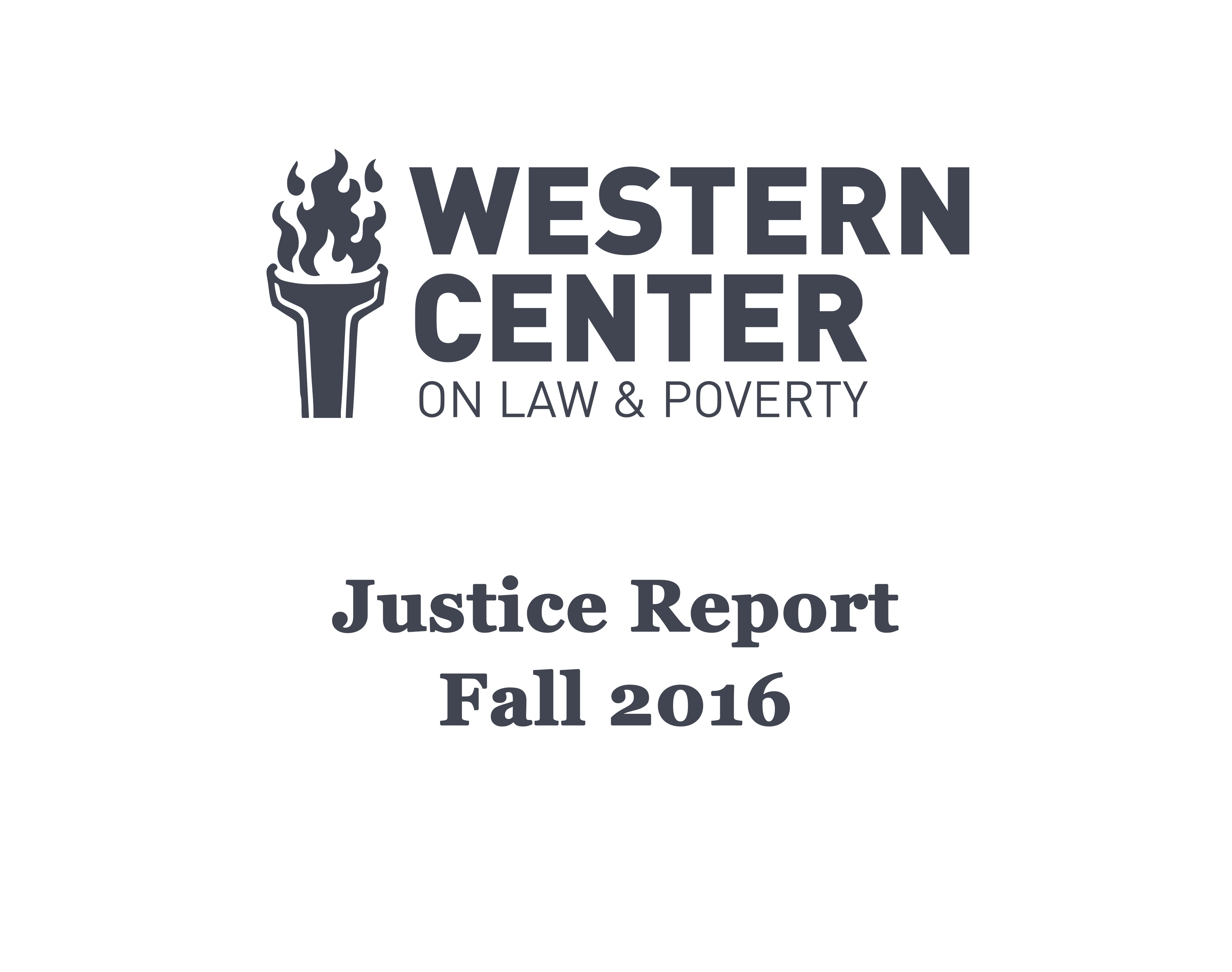 Justice Report – Fall 2016